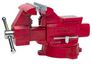 Picture of a Wilton Bench Vise for working on AR 15 rifles