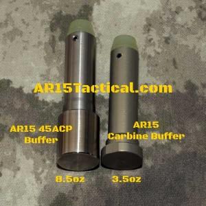 AR15 Carbine Buffer vs AR15 45acp Buffer