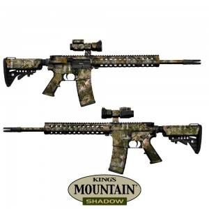 Gunskins AR 15 Skin - Kings Mountain Shadow Camo