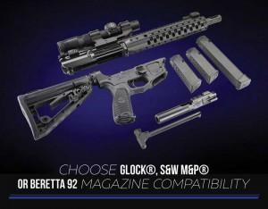 Wilson Combat AR9 9mm AR15 Accepts Glock Beretta SW Magazines