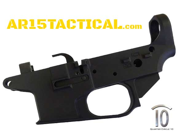 Quarter Circle 10 Glock Small Frame Lower Receiver 9MM AR 15