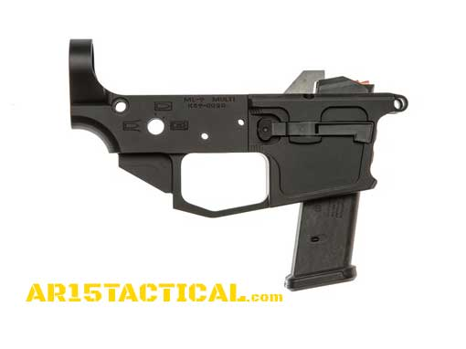 Spartan 9mm AR-15 Glock Magazine Compatible Billet Lower Receiver