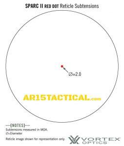 Vortex Optics Sparc 2 2 MOA Red Dot Sight SPC-402 Reticle Subtensions