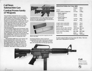 Colt 9MM SMG R0635 Catalog Page