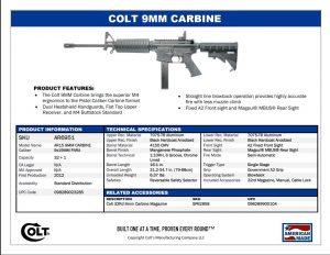 Colt 9mm Carbine AR6951 the original 9mm ar15