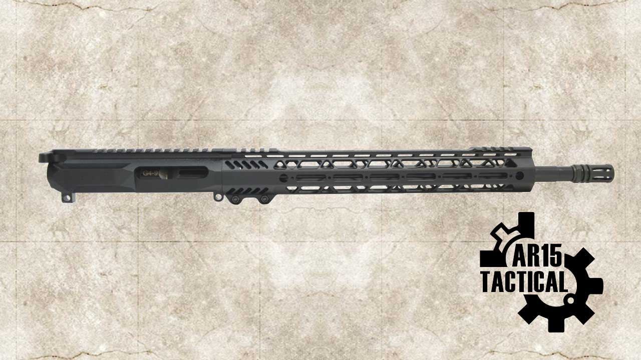 """Picture of a PSA GEN4 16"""" 9MM NITRIDE 1/10 13.5"""" LIGHTWEIGHT M-LOK RAILED UPPER WITH BOLT CARRIER GROUP & CHARGING HANDLE - 5165449632"""