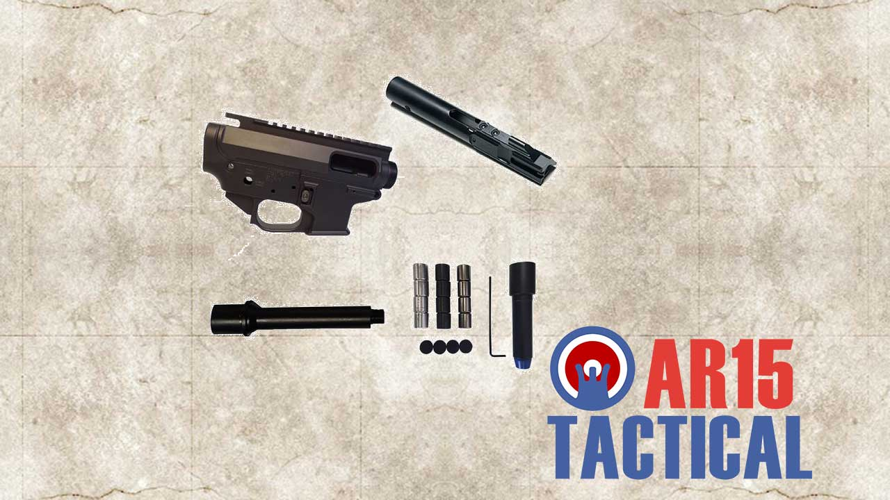 Picture of a Quarter Circle  Rear Charging CLT9MM Builders Kit QC-BK-GSF-PMUR-9
