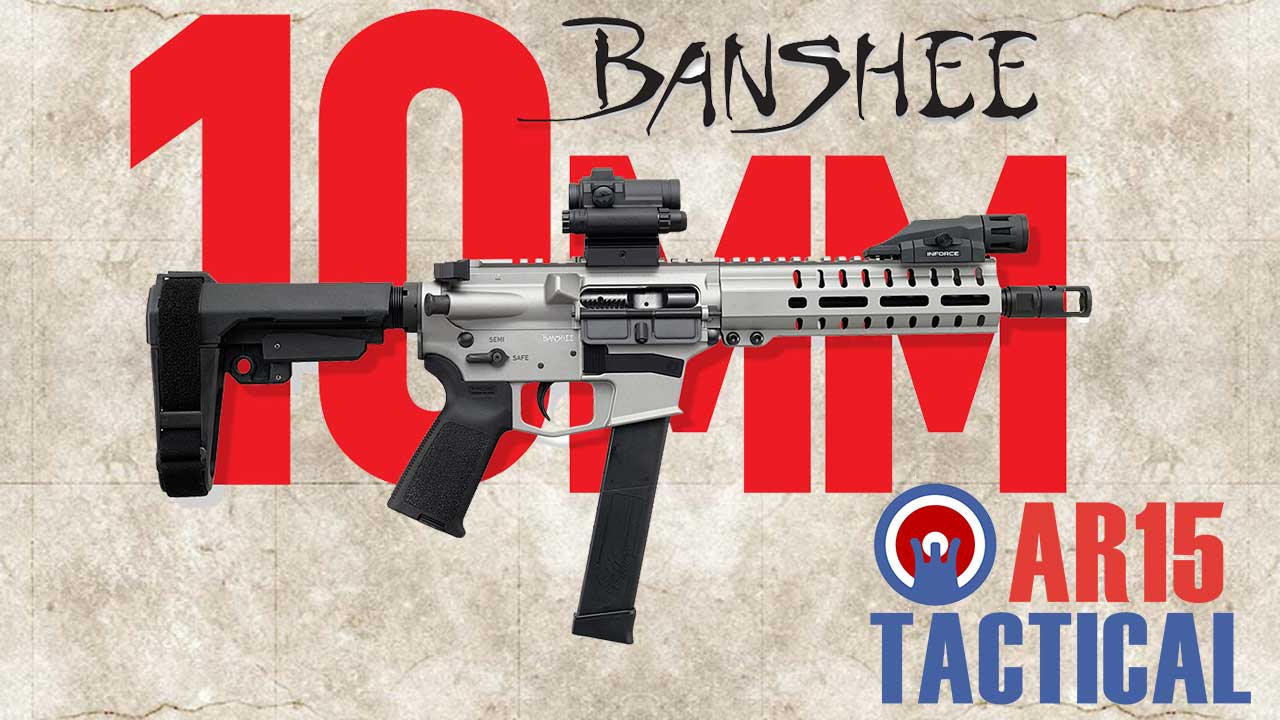 Picture of a CMMG Banshee 10mm AR Pistol Caliber Carbine