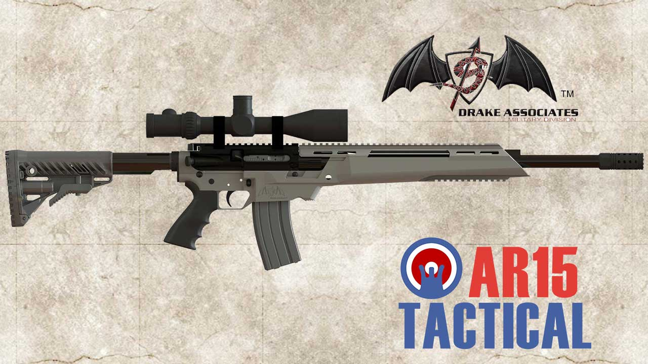 Picture of a Drake ATHENA Semi Automatic Precision Chassis Rifle