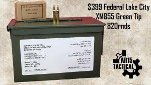 $399 Federal American Eagle Lake City XM855 Green Tip