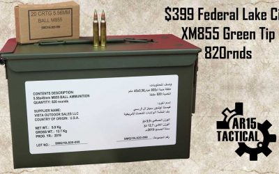 Federal Lake City XM855 Green Tip 62gr 820rd ZSAM855MOI